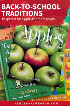 An apple book inspired week of reading and activities to get your kids ready for back-to-school this fall! Apple fun for the whole family! Apple Activities, Outdoor Activities For Kids, Hands On Activities, Preschool Activities, Apple Life Cycle, Teaching Portfolio, Kindergarten, Starting School, Apple Books