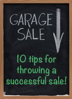 how to plan a great garage sale