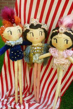 Circus Showgirls Cloth Dolls