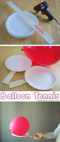 Balloon Tennis... Easy and cheap entertainment!