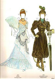 Great Fashion Designs of La Belle Époque Paper Dolls by Tom Tierney - Dover… Paper Art, Paper Crafts, Belle Epoch, How To Age Paper, Paper Fashion, Fashion Art, Paper Dolls Printable, Paper People, Art Folder