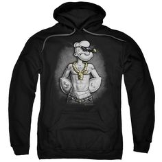 Popeye/HarDCOre Adult Pull-Over Hoodie in