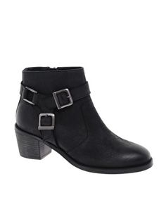 Enlarge ASOS ASTEROID Leather Ankle Boots with Stirrup