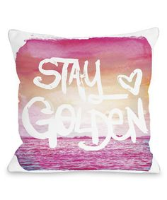 Another great find on #zulily! 'Stay Golden' Throw Pillow #zulilyfinds