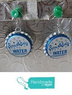 Sparkling Water Upcycled Bottlecap Earrings from Southern Women Crafts https://www.amazon.com/dp/B01M2YM6ZR/ref=hnd_sw_r_pi_dp_AeTbybPTH4NQ0 #handmadeatamazon