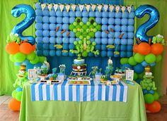 Eu e os Gêmeos: Festa Infantil: Tema Mr.Froggy