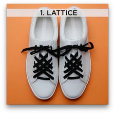 """So when your friends ask you what kind of shoes you're wearing you can say, """"Oh this old thing? It's a lattice."""" 