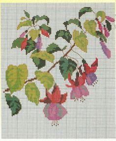 Gallery.ru / Фото #3 - 13 - kento Cross Stitch Rose, Cross Stitch Flowers, Cross Stitch Charts, Cross Stitch Patterns, Quilt Patterns, Silk Ribbon Embroidery, Hand Embroidery, Embroidery Designs, Needlepoint Stitches