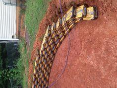 DIY retaining wall. Using quickcrete