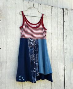 Patriotic / 4th of July / Funky Babydoll Tunic / by CreoleSha, $77.99