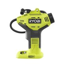 Check out this RYOBI product -   	The 18-Volt ONE+ Power Inflator is a new offering from the ONE+ system of over 50 great tools, available as a Special Buy while supplies last. This 18-Volt Power Inflator is perfect for tires and small inflatables ranging from 0-150 psi. The cordless convenience allows for use in virtually any location. The 18-Volt ONE+ Power Inflator is sold as a bare tool, allowing you to build on your ONE+ collection without spending additional money on batteries and…