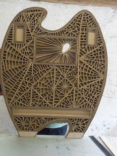Lit bébé en carton - structure de façade2 - Vous fabriquez des meubles en carton