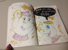 Wreck this journal: Pour, spill, drip, spit, fling your coffee here. :)