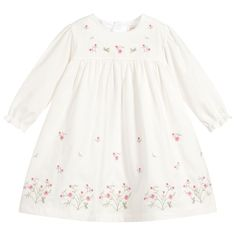 Ivory Dresses, Tight Dresses, Cotton Tights, Beautiful Babies, Floral Embroidery, Rose, Pretty In Pink, Designer Dresses, Dress Set
