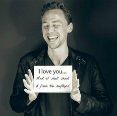 Hiddleston winning the hearts of women everywhere