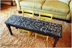 Chalkboard bench table thingy