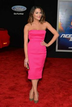 Inbar Lavi attends the Need For Speed Movie LA Premiere. Styling by Jessica Paster.