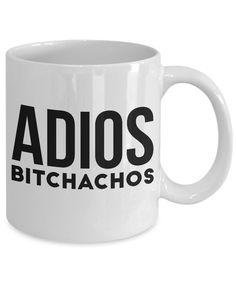 79d96ff52edb Adios Bitchachos-funny coffee mug tea cup women gift retirement gift friend  mug with sayings Funny retirement gift for women