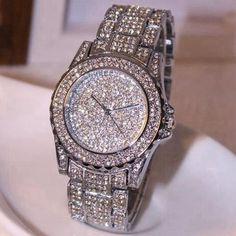 Alluring Crystal Quartz Water & Shock Resistant Watch