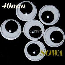 Free shipping big size 40mm 100pcs/bag Black And White Oval Design Imitate Animal Eye Dolls Eye For Toy DIY Free Shipping(China (Mainland))