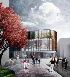 Mecanoo's proposed new home in Manchester city centre for The Cornerhouse cinema and the Library Theatre Company has won planning permission Manchester Art, Manchester England, Architects Journal, Building Images, Home Art, Street View, House Design, Culture, Urban