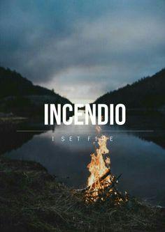 Инсендио — поджигающее заклятие. Заклинание относится к Чарам Воспламенения. Имеется в виду огонь как таковой, магический огонь, не требующий какого-либо горючего. Также заклинание используется для оглушения Ядовитой тентакулы или для того, чтобы заставить завять Колючку обыкновенную.