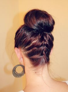 braided ballerina bun - shows how to use a bun maker, similar to a sock bun...I really need to make a sock bun thing so I can do this!
