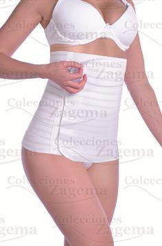 Faja Post-parto Materno Envolvente transpirable, Modelo 110-I, Tallas Ch-M-G-Xg. Color Bco y Nude.