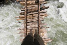 Looking down the swollen Kanka River