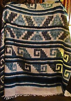 """Guatemalan Wool Blanket. Fair Trade. Handmade by Toledo Melesio Ajanel in Momomstenango. The wool blankets from this village have been declared a """"National Cultural Heritage"""" of Guatemala."""