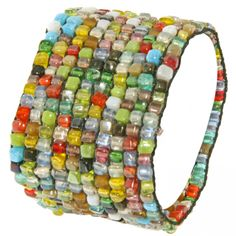 Bombay Bongo Unique Gifts - Handmade Multi Colored Bead Stretch Bracelet, $29.99 (http://www.bombaybongo.com/handmade-multi-colored-bead-stretch-bracelet/)