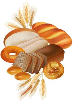 Bread and bakery products vector image on VectorStock Free Vector Images, Vector Free, Decoupage, Food Clips, Posters Vintage, Diy And Crafts, Paper Crafts, Recipe Scrapbook, Kitchen Art