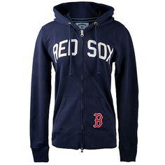 Boston Red Sox Women's Pep Rally Hooded Full Zip by '47 Brand - MLB.com Shop