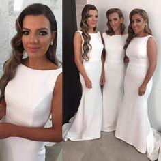 Custom Made Bridesmaid Dress,Simple Design Sleeveless Bridesmaid Dress,Floor-Length Elegant Bridesmaid Dress, PD0055