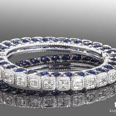 Best Diamond Bracelets : Creating unique, expertly crafted pieces made with the finest gemstones available is what my fine jewellery line is all about…. This diamond and sapphire bangle exemplifies that perfectly! Diamond Bracelets, Bangles, Best Diamond, Emerald Jewelry, Fine Jewelry, Unique Jewelry, Mo S, Jewelry Design, Bling