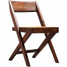 For Sale on - This piece comes from the famous Chandigarh project in India, as when India gained independence in Nehru decided to commission a contemporary architect Fabric Dining Room Chairs, Teak Dining Chairs, Chair Fabric, Black Leather Dining Chairs, Library Chair, Wire Chair, Pierre Jeanneret, Modern Chairs, Art And Architecture