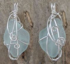 All of the sea glass used in these creations are genuine and unaltered, naturally shaped and beautifully kissed with frost, created from decades of tumbling in sand and surf. Sea Glass, Frost, Wall Lights, Pendants, Drop Earrings, Inspired, Beach, Blue, Inspiration
