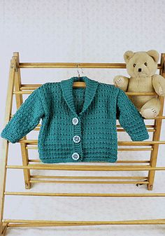Free Pattern: Tumba Toddler's Shawl Jacket by Melissa Matthay