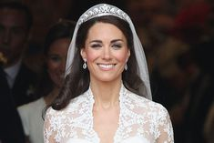 Here are 17 of our favorite royal wedding tiaras of all time, worn by royal brides from Queen Elizabeth to Princess Diana to Meghan Markle Royal Brides, Royal Weddings, Duchess Kate, Duchess Of Cambridge, Bobbi Brown Makeup Artist, Wedding Tiaras, Wedding Day Makeup, Prince William And Kate, Love Makeup