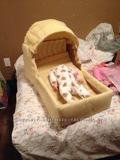 Best Homemade Baby Bassinet Illusion Costume!