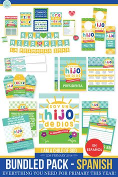 2018 LDS Primary Bundled Package  SPANISH  I am a child of