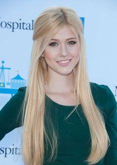 Katherine McNamara long blonde hair