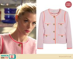 Lemon's pink tweed jacket on Hart of Dixie.  Outfit details: http://wornontv.net/15240/