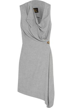 Light-gray crepe Button fastening at front 85% viscose, 15% wool Dry clean Made in Italy