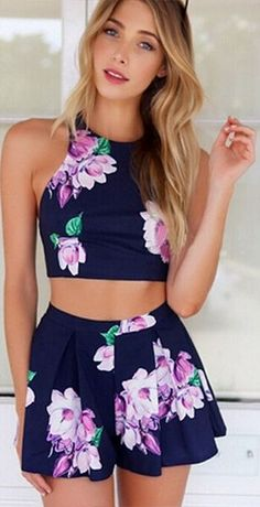 Miss Me Forever Two-Piece Romper