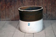 Vintage Stoneware 3 Gallon Salt Glazed Crock