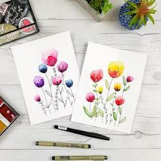 Free Watercolor Birthday Card Printables - Fox + Hazel