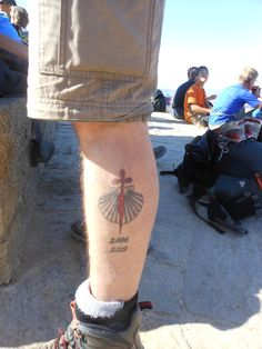 camino de santiago tattoo. But I want it smaller and on my wrist