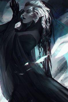 Weird Weird World — saved to Fantasy [ArtStation - >. Dark Fantasy, Fantasy Rpg, Fantasy Artwork, Fantasy Queen, Gothic Artwork, Dnd Characters, Fantasy Characters, Female Characters, Game Of Thrones Characters