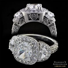 This is by far my most FAVORITE halo setting I've seen... absolutely stunning! The heart and infinity symbols on the side of the band...breathtaking!  169EE1